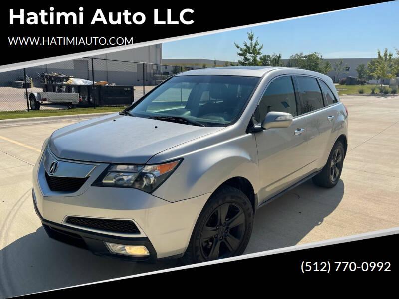 2012 Acura MDX for sale at Hatimi Auto LLC in Austin TX