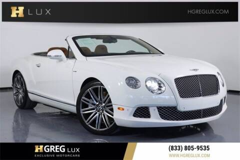 2014 Bentley Continental for sale at HGREG LUX EXCLUSIVE MOTORCARS in Pompano Beach FL