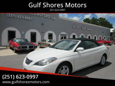 2007 Toyota Camry Solara for sale at Gulf Shores Motors in Gulf Shores AL