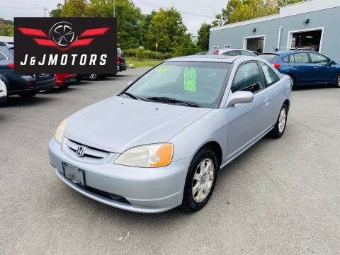 2003 Honda Civic for sale at J & J MOTORS in New Milford CT