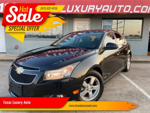 2014 Chevrolet Cruze for sale at Texas Luxury Auto in Cedar Hill TX
