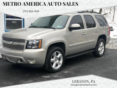 2008 Chevrolet Tahoe for sale at METRO AMERICA AUTO SALES of Lebanon in Lebanon PA