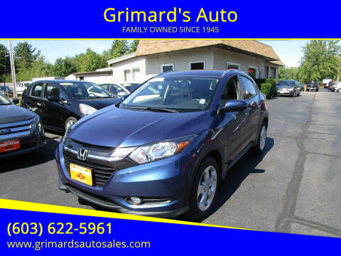 2016 Honda HR-V for sale at Grimard's Auto in Hooksett, NH