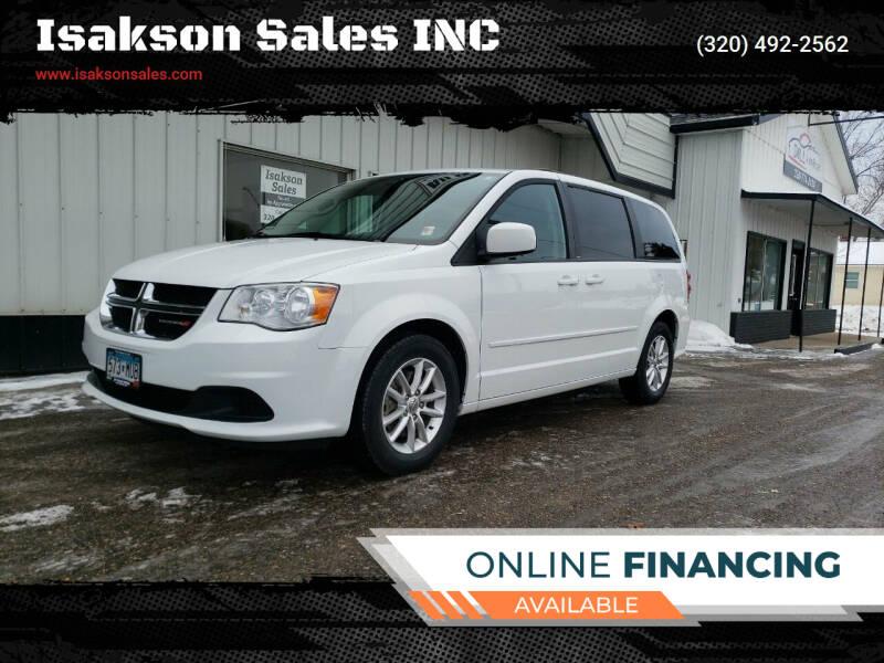 2014 Dodge Grand Caravan for sale at Isakson Sales INC in Waite Park MN
