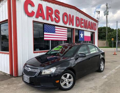 2014 Chevrolet Cruze for sale at Cars On Demand 3 in Pasadena TX
