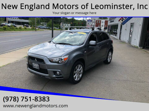 2012 Mitsubishi Outlander Sport for sale at New England Motors of Leominster, Inc in Leominster MA