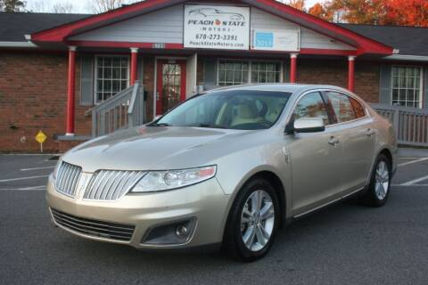 2010 Lincoln MKS for sale at Peach State Motors Inc in Acworth GA
