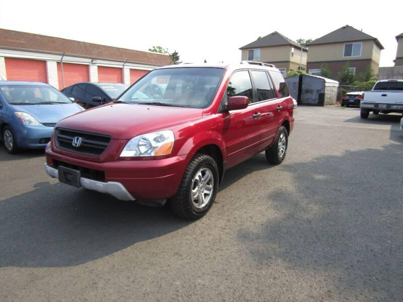 2003 Honda Pilot for sale at ARISTA CAR COMPANY LLC in Portland OR