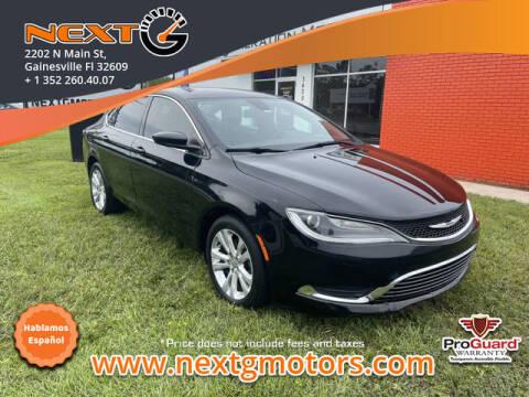 2016 Chrysler 200 for sale at Next G Motors in Gainesville FL