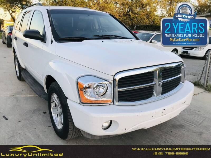 2004 Dodge Durango for sale at LUXURY UNLIMITED AUTO SALES in San Antonio TX