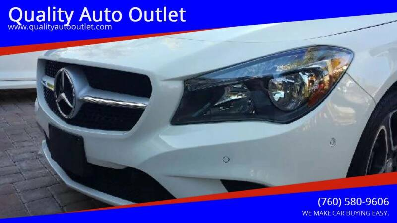 2014 Mercedes-Benz CLA for sale at Quality Auto Outlet in Vista CA