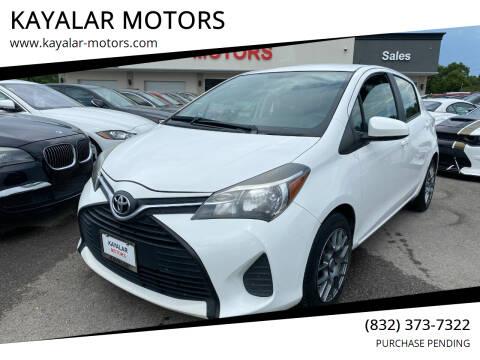 2015 Toyota Yaris for sale at KAYALAR MOTORS in Houston TX
