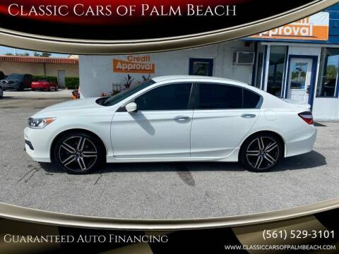 2017 Honda Accord for sale at Classic Cars of Palm Beach in Jupiter FL