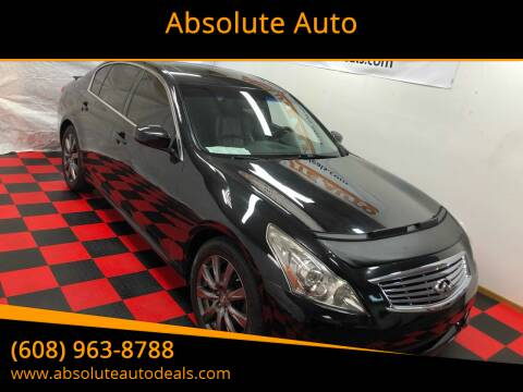 2012 Infiniti G37 Sedan for sale at Absolute Auto in Baraboo WI