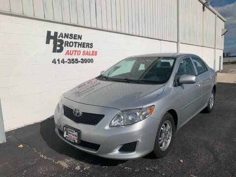 2009 Toyota Corolla for sale at HANSEN BROTHERS AUTO SALES in Milwaukee WI