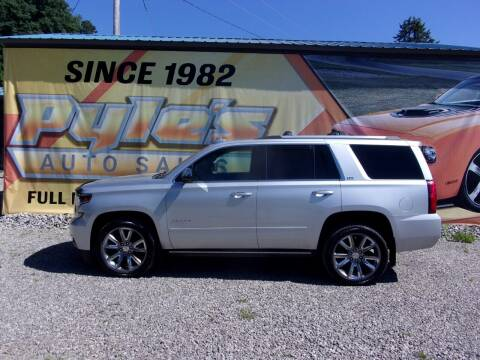 2016 Chevrolet Tahoe for sale at Pyles Auto Sales in Kittanning PA