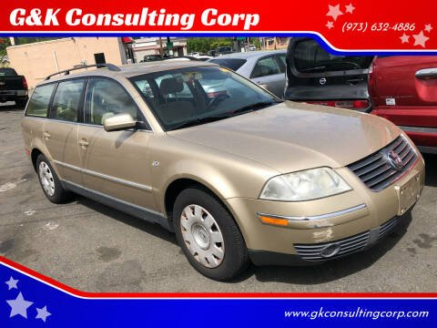 2001 Volkswagen Passat for sale at G&K Consulting Corp in Fair Lawn NJ