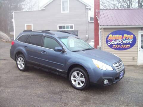 2013 Subaru Outback for sale at Auto Pro Auto Sales-797 Sabattus St. in Lewiston ME