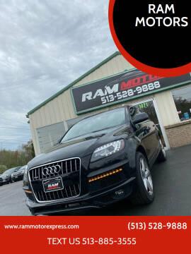 2013 Audi Q7 for sale at RAM MOTORS in Cincinnati OH