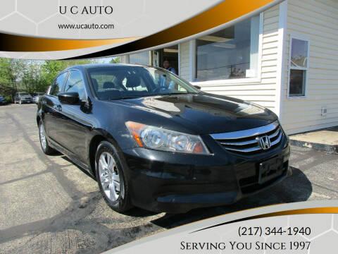 2012 Honda Accord for sale at U C AUTO in Urbana IL