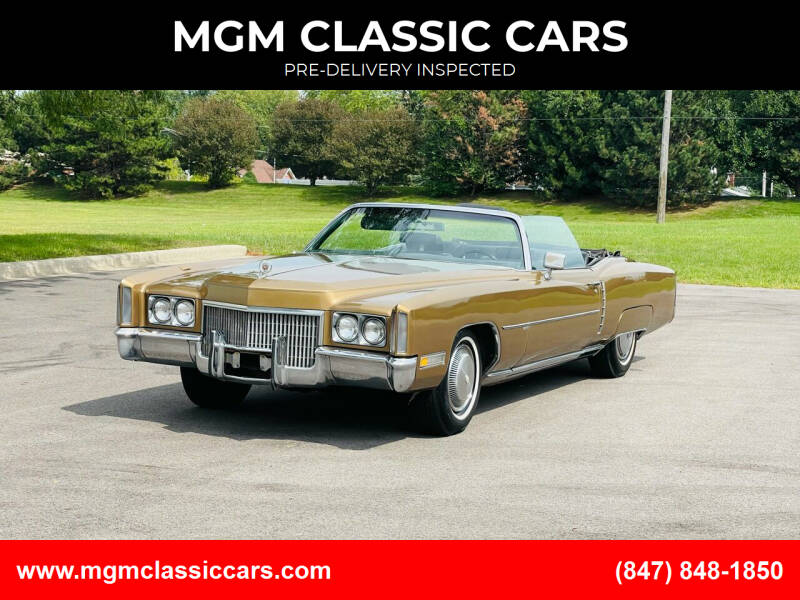 1971 Cadillac Eldorado for sale at MGM CLASSIC CARS-New Arrivals in Addison IL