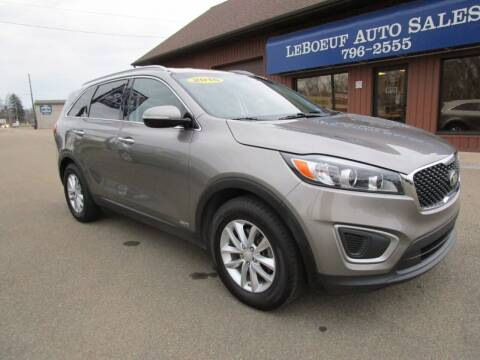 2016 Kia Sorento for sale at LeBoeuf Auto Sales in Waterford PA