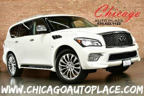 2016 Infiniti QX80 for sale at Chicago Auto Place in Bensenville IL