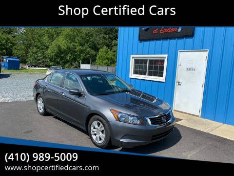 2010 Honda Accord for sale at Shop Certified Cars in Easton MD