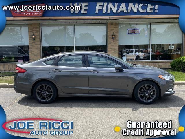 2018 Ford Fusion for sale at JOE RICCI AUTOMOTIVE in Clinton Township MI