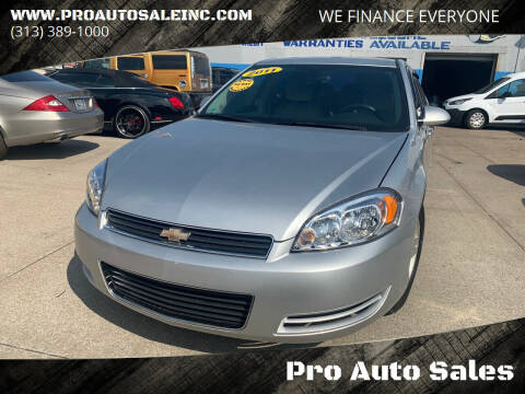 2011 Chevrolet Impala for sale at Pro Auto Sales in Lincoln Park MI