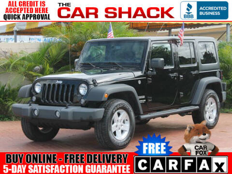 2017 Jeep Wrangler Unlimited for sale at The Car Shack in Hialeah FL