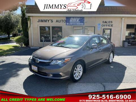 2012 Honda Civic for sale at JIMMY'S AUTO WHOLESALE in Brentwood CA