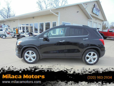 2015 Chevrolet Trax for sale at Milaca Motors in Milaca MN