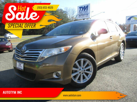 2009 Toyota Venza for sale at AUTOTYM INC in Fredericksburg VA