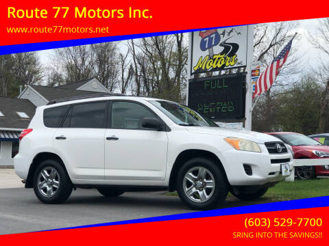 2009 Toyota RAV4 for sale at Route 77 Motors Inc. in Weare NH