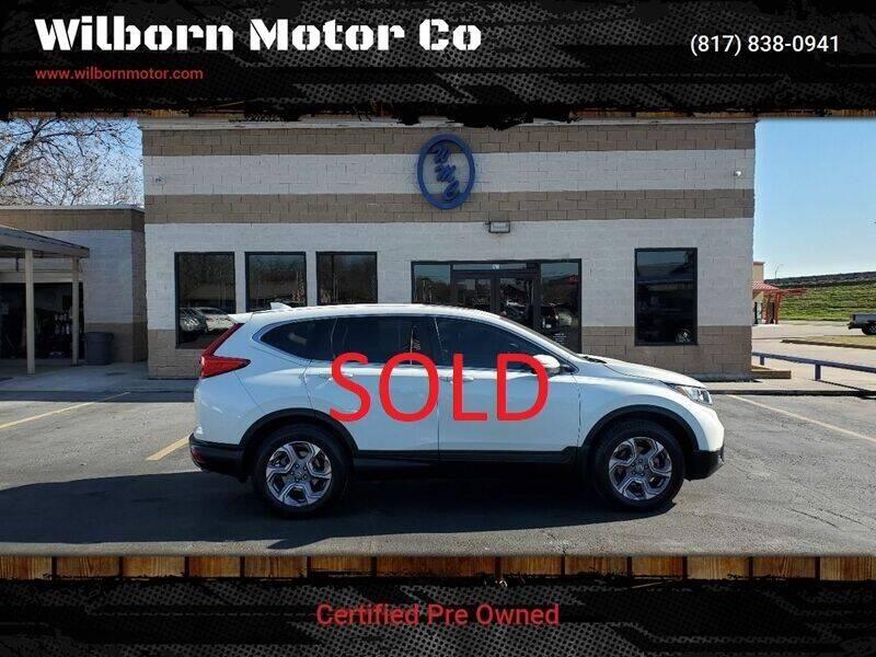 2018 Honda CR-V for sale at Wilborn Motor Co in Fort Worth TX