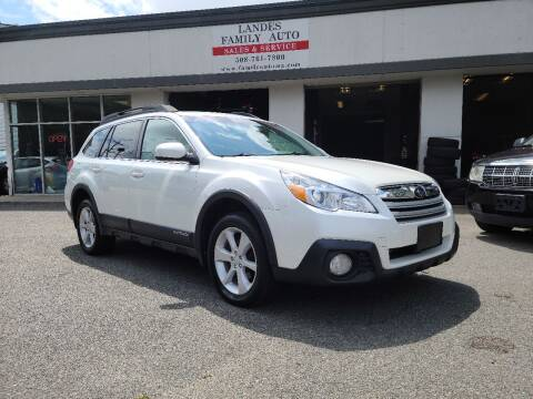 2013 Subaru Outback for sale at Landes Family Auto Sales in Attleboro MA