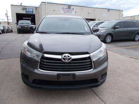 2014 Toyota Highlander for sale at ACH AutoHaus in Dallas TX