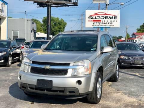 2007 Chevrolet Equinox for sale at Supreme Auto Sales in Chesapeake VA