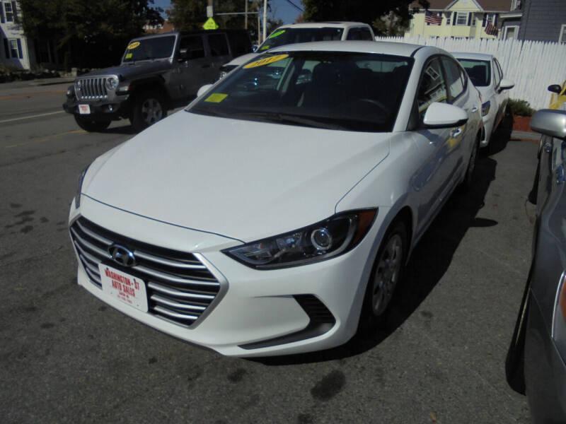 2017 Hyundai Elantra for sale at Washington Street Auto Sales in Canton MA