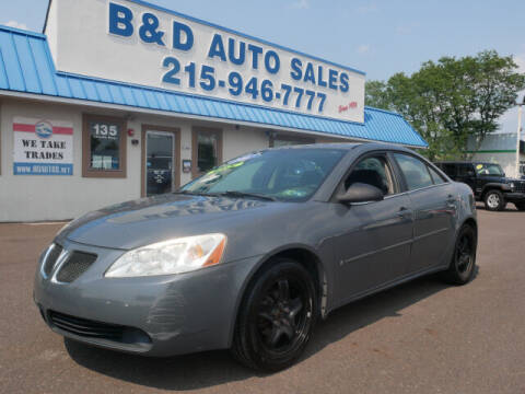 2007 Pontiac G6 for sale at B & D Auto Sales Inc. in Fairless Hills PA