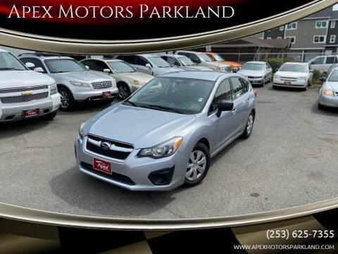 2012 Subaru Impreza for sale at Apex Motors Parkland in Tacoma WA