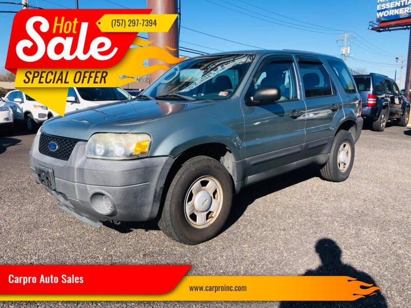 2005 Ford Escape for sale at Carpro Auto Sales in Chesapeake VA