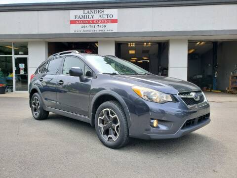 2014 Subaru XV Crosstrek for sale at Landes Family Auto Sales in Attleboro MA