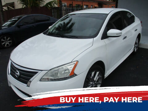 2015 Nissan Sentra for sale at K & V AUTO SALES LLC in Hollywood FL