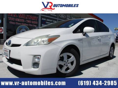 2011 Toyota Prius for sale at VR Automobiles in National City CA