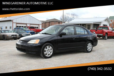 2001 Honda Civic for sale at WINEGARDNER AUTOMOTIVE LLC in New Lexington OH