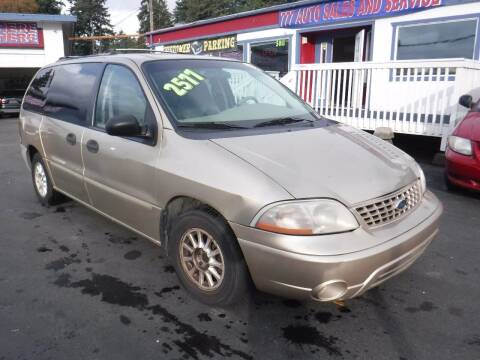 2001 Ford Windstar for sale at 777 Auto Sales and Service in Tacoma WA