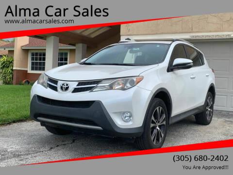 2015 Toyota RAV4 for sale at Alma Car Sales in Miami FL
