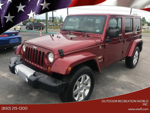 2013 Jeep Wrangler Unlimited for sale at Outdoor Recreation World Inc. in Panama City FL